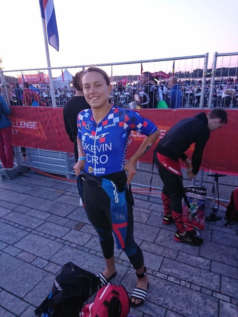 Sonja Škevin prije starta utrke (foto: privatna arhiva)